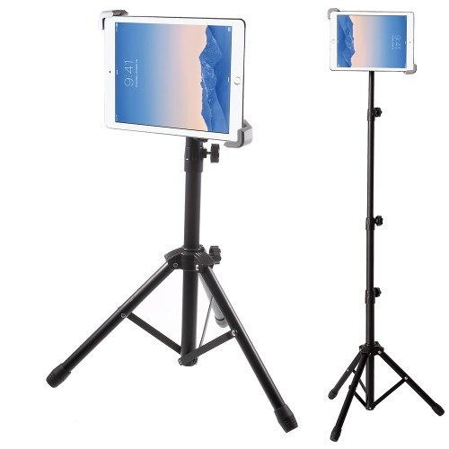 Floor Stand with Tripod Base, Height Adjustable with Telescoping Post, Portable with Carry Case
