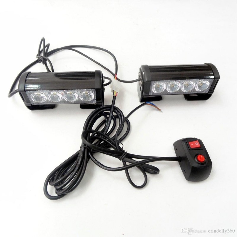 LED Strobe Lights for Trucks Jeep SUV Cars 12V Universal Amber Waterproof Emergency Car Light