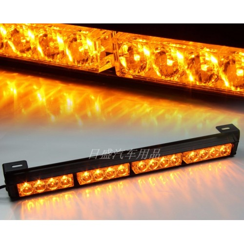 Yellow 13 Modes 8 Light Heads 16 LED Traffic Advisor Emergency Warning Security