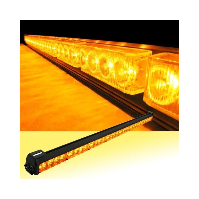 "32 LED 36"" Amber Yellow Emergency Traffic Advisor Flash Strobe Light Bar"