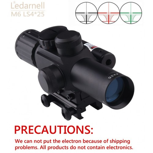 Ledarnell M6 11mm 20mm dovetail tactical reach 4x25 rifle sights with laser sight