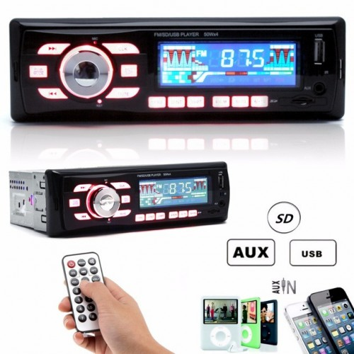BLUETHOOT Car Audio Stereo 12V MP3 WMA USB SD MMC AUX Player
