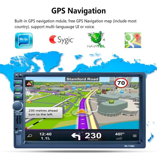 GPS ΑΥΤΟΚΙΝΗΤΟΥ 2DIN MULTIMEDIA PLAYER mp5
