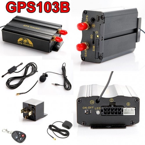 GSM GPRS Tracking System GPS103B Motorcycle Alarm Location Tracker Remote Control .