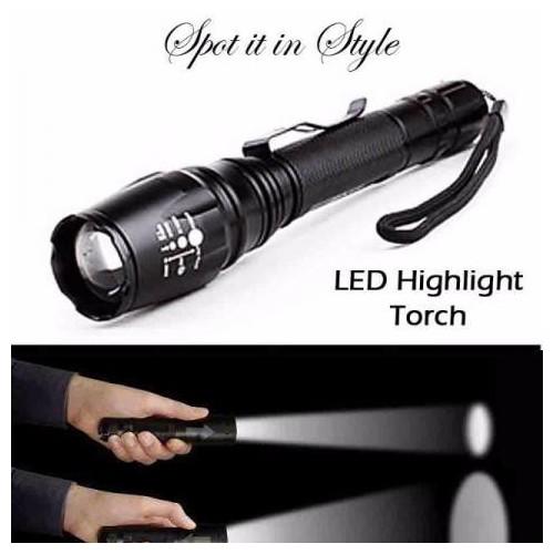 T6 Tactical Gun LED Flashlight Torch Highlight Switch Mount Light