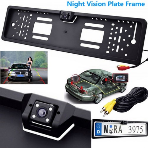 European Car License Plate Rearview Camera