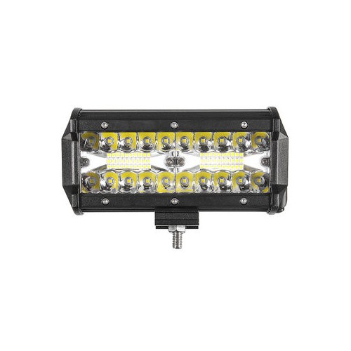 3 Rows 7 Inch DC10-30V 120W IP67 6000K Flood Spot Beam Combo LED Work Light for Offroad Truck SUV