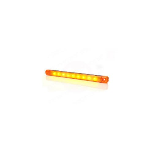 4 x Amber Orange 12V 9 Led Side Marker Indicators Lights Truck Trailer E-Marked