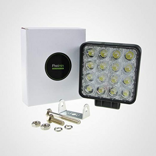 12v / 24v 48w square led flood work light for truck