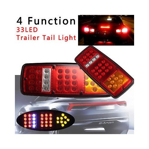 33 LED Stop Brake Rear Tail Light Indicator Reverse Lamp 12V Trailer Truck RV