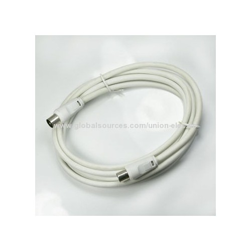 3m White TV Antenna Cable PAL Male to Female Aerial Flylead Fly Lead Coax