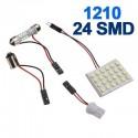 12-LED White Car Brake Lamp w/ T10 / BA9S / Festoon