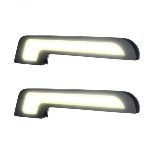 Mercedes Benz Style L-Shaped 6 LED DRL White (Set of 2) for Baleno New