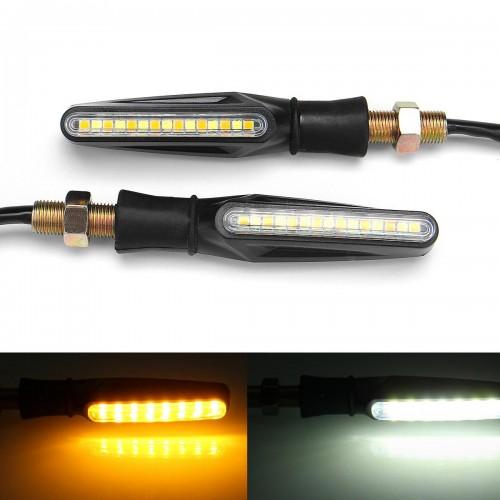 1 Pair Motorcycle 12V Motorbike Turn Signal Light Indicators Universal Led Moto Waterproof