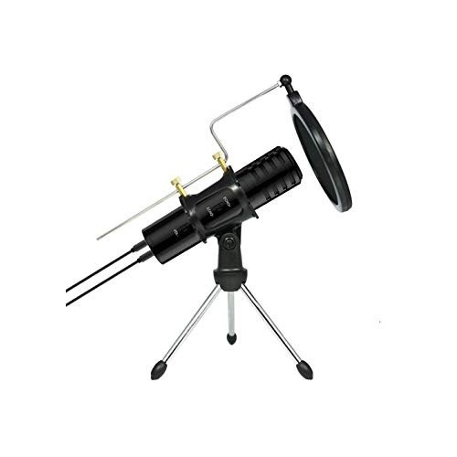 Microphone With Pop Filter & Tripod Stand