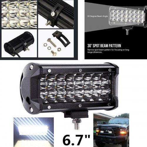 72W triple row led