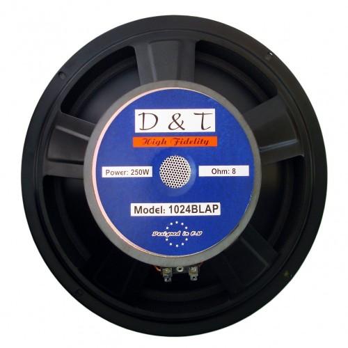 """High-cut Wave Paper Cone Series Woofer Megaphone with Black Foam Edge 10\\"""", 8Ω, 250W."""