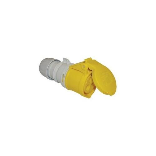 femelle 16A 3 points 110V IP44 jaune, P17 CEE 16A 110V Prozic