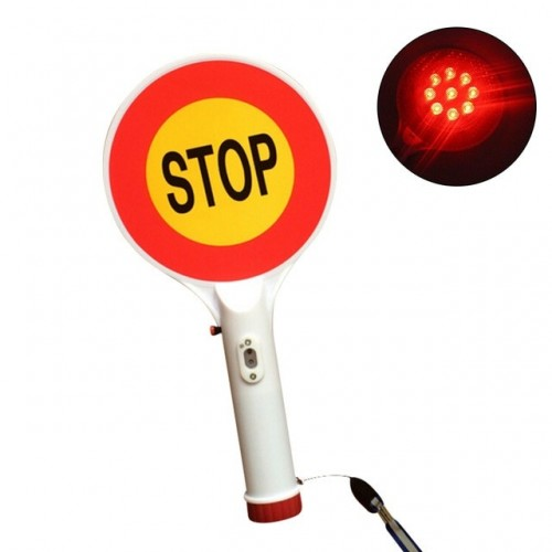 Two-Way Handheld Rechargeable LED Traffic Sign Stop Light