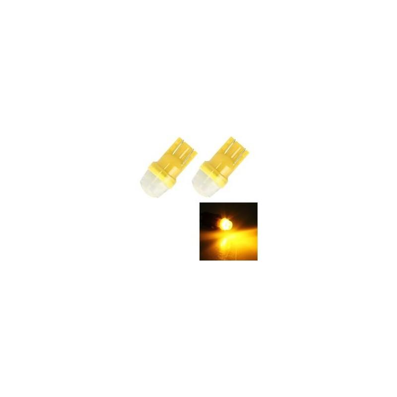ΣΕΤ 2 ΛΑΜΠΕΣ LED ΑΥΤΟΚΙΝΗΤΟΥ T10 ΓΙΑ ΦΩΤΑ ΘΕΣΗΣ ΚΙΤΡΙΝΕΣ