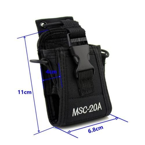 MSC-20A Walkie Talkie Case Holster for Yaesu Icom Motorola GP328+ Wouxun KG-UV8D CB Radio BAOFENG