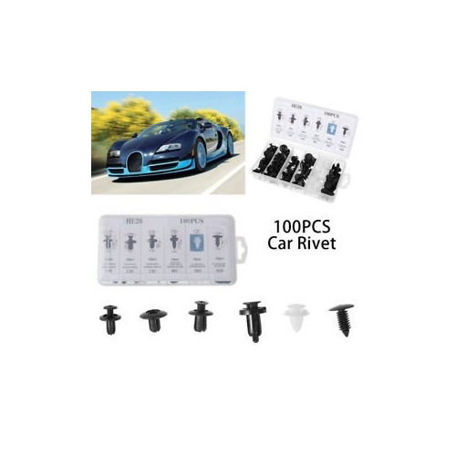 100 Car Push Pin Rivet Clip