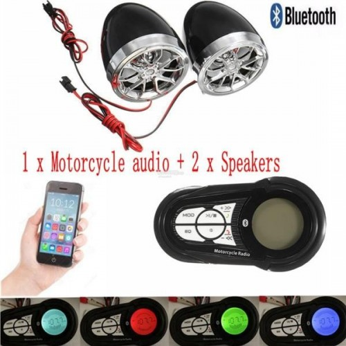 Waterproof Motorcycle Audio Radio Anti- theft System