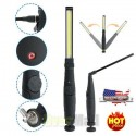 chargeable Work Light Flashlight with Magnet solar Rotating 24+2 LED