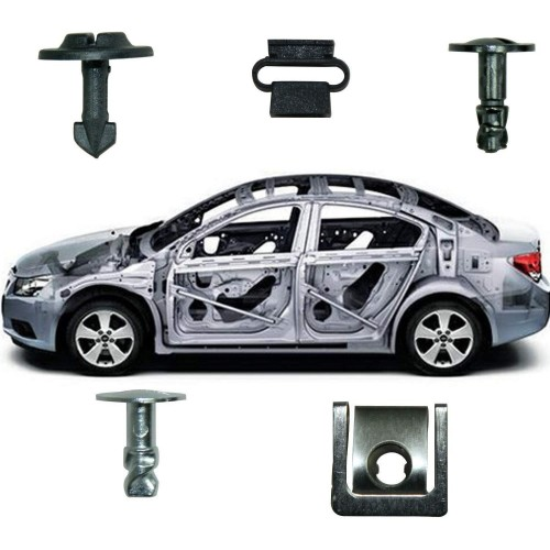 Car Panel Push Fasteners Retainers Clips Pin Clip Nut Placement Moulding Assortments Kit For Audi/VW Engine