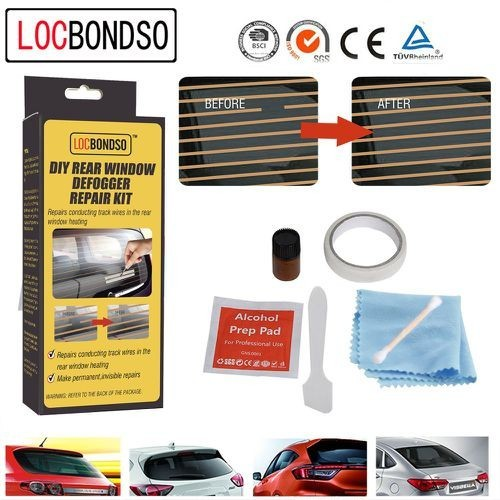 LOCBONDSO DIY Car Rear Window Defogger Repair Kit - Copper
