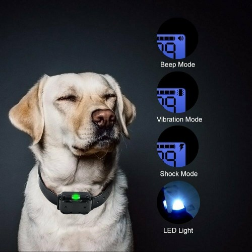 Details about Training Shock Dog Collar with Remote Pet Anti Bark Rechargeable Waterproof LED WT776