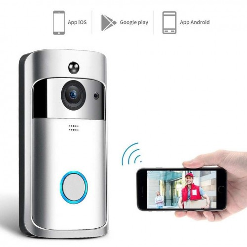 V5 WiFi Video Doorbell Camera 720p Visual Intercom W/TF Card