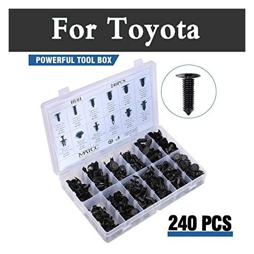 240Pcs 12 Model Car Body Shield Repair Fastener Clip Rivets Screws Push Fastener
