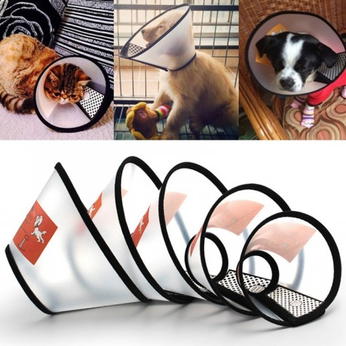Details about  Hurt Dog Cat Pet Collar Wound Healing Recovery Protection Cover Anti-Bite Cone