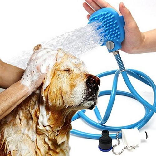 Pet Bathing  Shower Bath Tub & Outdoor Garden Hose Compatible, Dog Cat Horse Grooming