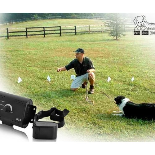 023 Electronic Pet Fencing System - Gun Metal EU Plug electronic pet fencing system