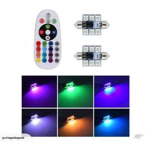 ΑΥΤΟΚΙΝΗΤΟΥ RGB 42mm LED ΜΕ ΤΗΛΕΧΕΙΡΗΣΤΗΡΙΟ