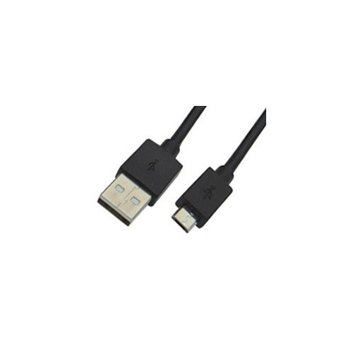 USB CABLE 2.0 FOR ANDROID CHARGING-DATA 1m BLACK COLOR BAG O..