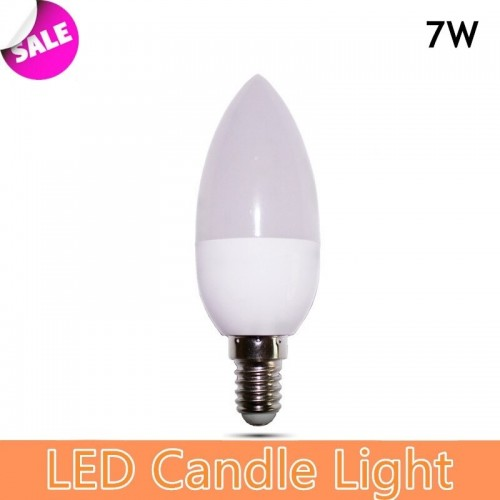 C37 Candle Shape LED Bulb 7W E27/E14 Base Ce RoHS Energy Saver Lamp