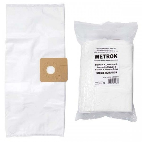 Wetrok Bantam 6, Bantam 9, Monovac 6, Duovac 6 Vacuum Cleaner Bag - Pack of 5 Microfibre Bags