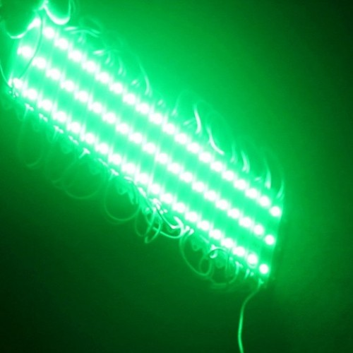 MODULE ΜΕ 3 ΙΣΧΥΡΑ LED 12Vdc 0.9W 120° IP68 ΠΡΑΣΙΝΟ TEMAXIO
