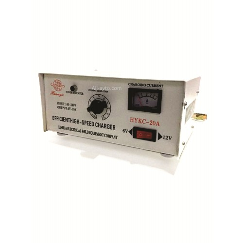 High Speed Battries Charger 6v-24v 20A (SUITABLE FOR BATTERY BELOW 40 AH) 230V