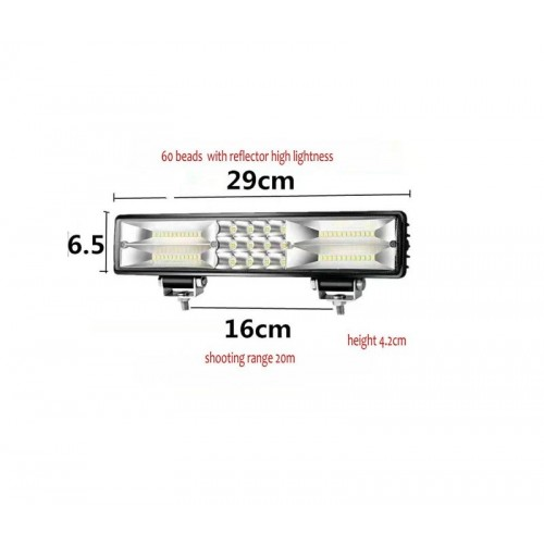 ΑΔΙΑΒΡΟΧΟ LED LIGHT BAR 180W COMBO