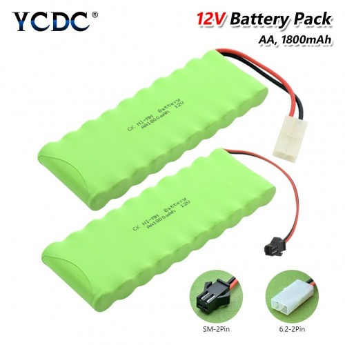 Ni-MH 10xAA Replacement Battery Pack 12V 1800mAh With Tamiya L6.2/SM Connector For RC Helicopter Car
