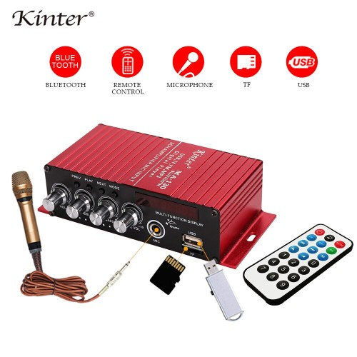 Kinter MA-130 DC12V 2CH 2*20W Bluetooth Mini Hi-Fi AMP Stereo