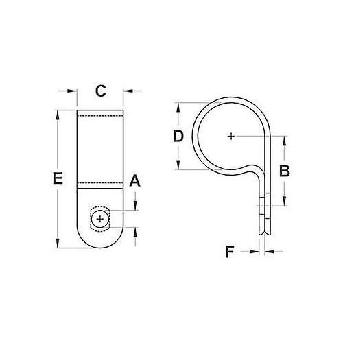 ΣΤΗΡΙΓΜΑΤΑ ΚΑΛΩΔΙΩΝ φ 19.4mm 100τεμ