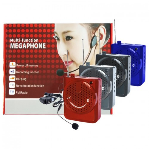 Multi-Function SlingBand LoudSpeaker MegaPhone with Lapel Mic