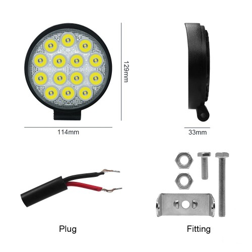 SLIM 42W LED WORK LIGHT ROUND