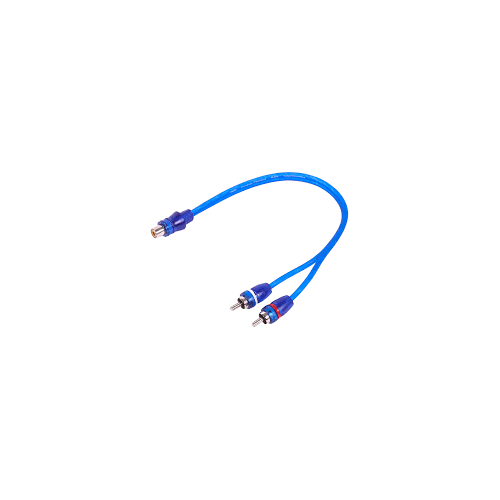 1-Female to 2-Male RCA Y-Adapter (1 FT) Cable (SKARRCA-1F2M)