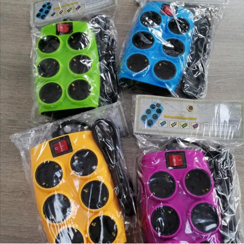 SOUKO MULTIPLE SOCKET 6 POSITIONS WITH PINK SWITCH